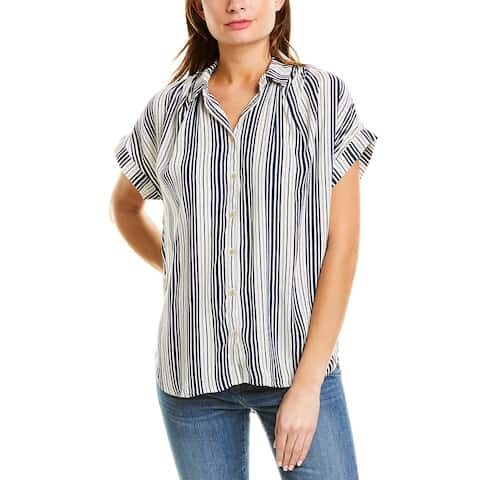 Madewell Drapey Central Shirt - WQ6805-Ombre Stripe Nightfall