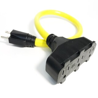 Bold 2' 12/3 Contractor Grade Triple Tap Pigtail Extension Cord