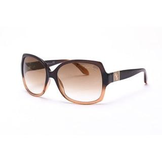 Roberto Cavalli Women's Ginestra Sunglasses Black/Brown - Small