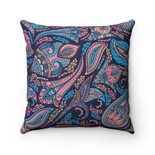 Farmhouse Paisley Reversible Throw Pillow Cover, Multicolor