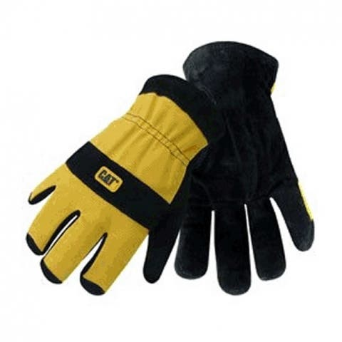 Cat CAT012222L-2 Lined Split Leather Palm Glove, Large