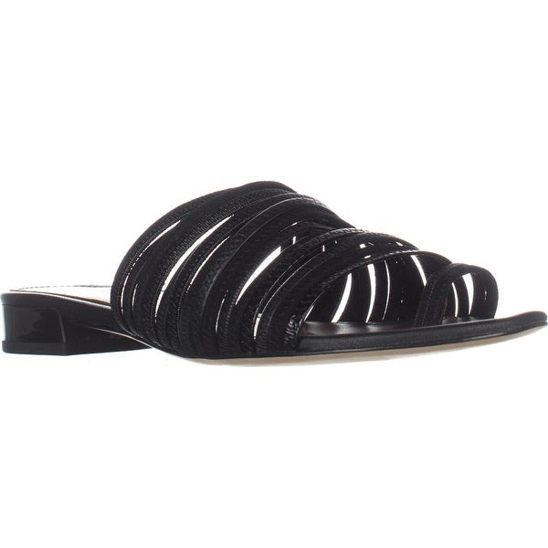 Donald J Pliner Frea Toe Ring Sandals, Black/Black