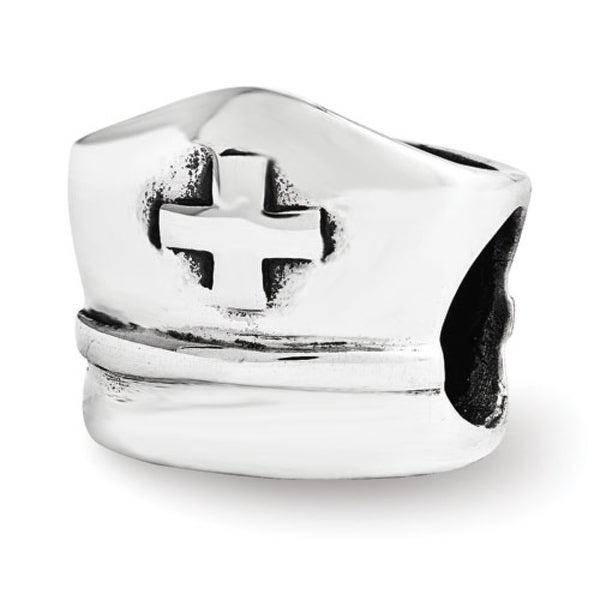 Sterling Silver Reflections Nurse Hat Bead (4mm Diameter Hole)