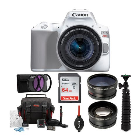 Canon EOS Rebel SL3 with 18-55mm Lens, Care & Travel Accessory Bundle