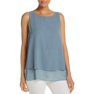 Eileen Fisher Womens Petites Casual Top Textured Bateau Neck