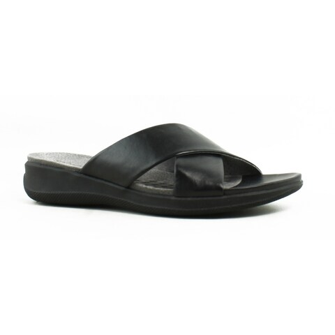 Softwalk Womens Tillman Black Slides Size 7.5 (A, N)