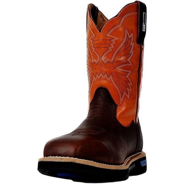 Cinch Work Boots Mens WRX CT Safety Toe Brown Orange