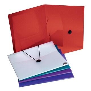 School Smart Polypropylene 4 Pockets Portfolio, Assorted Color