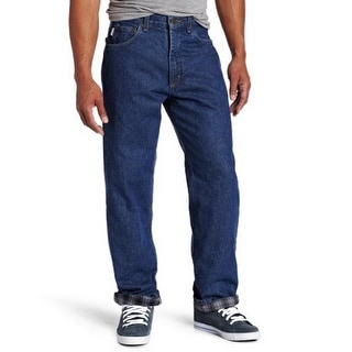 Carhartt Mens Relaxed Fit Straight Leg Flannel Lined Jean