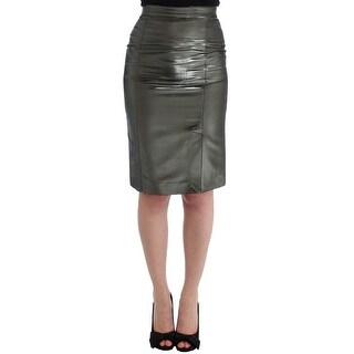 GF Ferre GF Ferre Silver Straight Pencil Skirt - it42-m
