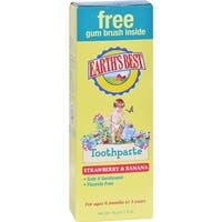 Earth's Best - Toddler Strawberry & Banana Toothpaste ( 3 - 1.6 OZ)
