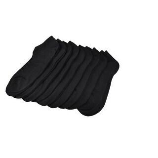 10 Pairs Stretch Cuff Low Cut Women Ankle Socks Black