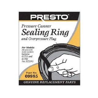 Presto 09985 Pressure Canner Sealing Ring and Overpressure Plug