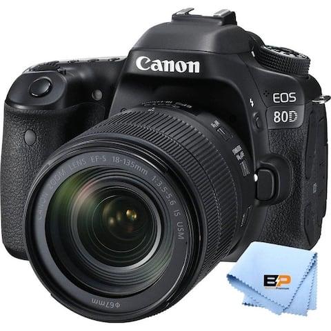 Canon EOS 80D Digital SLR Camera and EF-S 18-135mm f/3.5-5.6 lens - Black