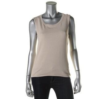Jones New York Womens Knit Jewel Neck Tank Top Sweater - S