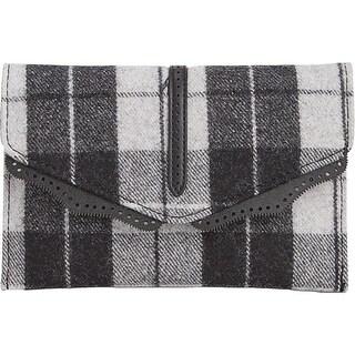 Danielle Nicole Womens Hudson Crossbody Handbag Wool Plaid - small