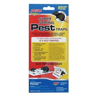 Pic Gpt 4 Glue Pest Trap For Spiders Snakes 4 Pk