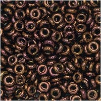 Toho Demi Round Seed Beads, Thin 8/0 (3mm) Size, 7.4 Grams, 224 Olympic Bronze