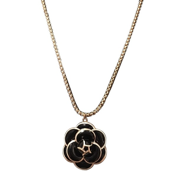 max & MO Resin Flower Pendant Necklace