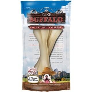 "Pure Buffalo 6"" Pressed Bully Bone Dog Treat 2/Pkg-"