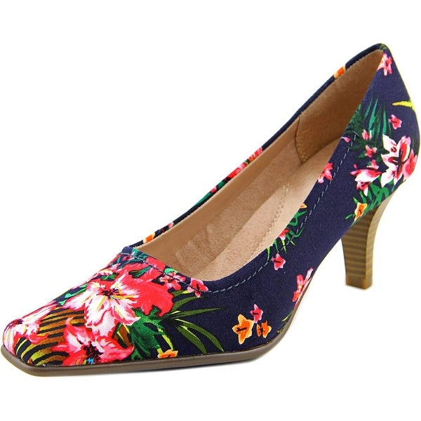 Aerosoles Envy Women Square Toe Canvas Blue Heels