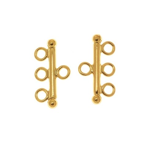 Gold Filled Triple Bead Strand Reducer Connector (2)