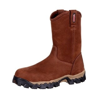 Rocky Work Boots Mens Composite Toe Full Grain Leather Brown RKK0216