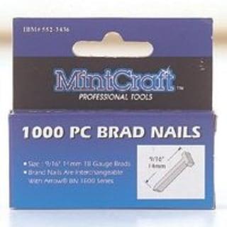 """Mintcraft T10 Brad Nails 3/8"""", 1000/Box"""