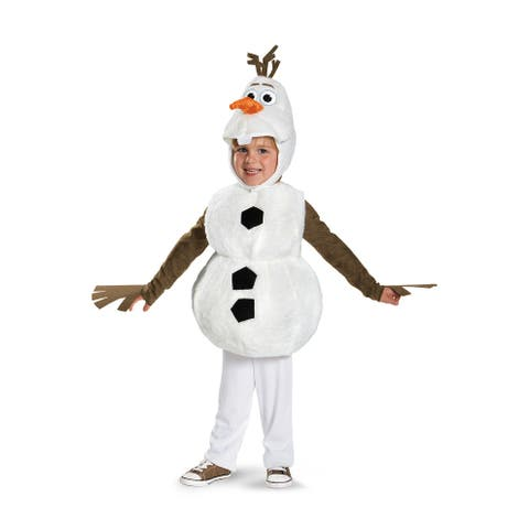 Disguise Olaf Deluxe Toddler Costume - White