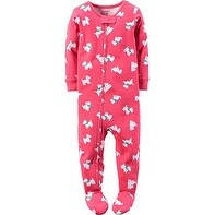Carter's Baby Girls' 1 Piece Fleece Pajamas - Pink - 24 Months