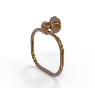 Allied Brass Continental Collection Towel Ring with Twist Accents