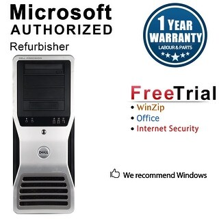 Dell Precision T7500 Workstation Tower Intel Xeon E5504 2G 8GB DDR3 1TB NVS300 Windows 10 Pro 1 Year Warranty (Refurbished)