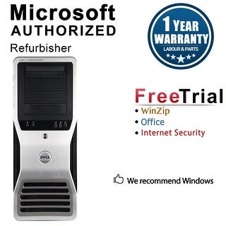 Dell Precision T7500 Workstation Tower Intel Xeon E5620 2.4G 8GB DDR3 2TB NVS300 Windows 10 Pro 1 Year Warranty (Refurbished)