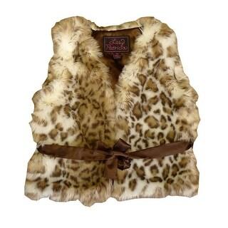 Girls Snow Leopard Faux Fur Vest 7-12 (2 options available)