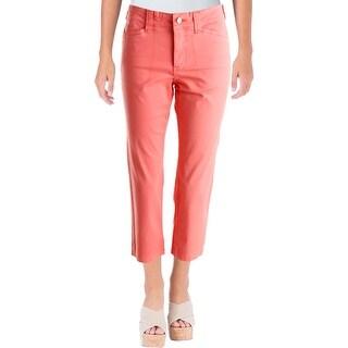 NYDJ Womens Clarissa  Capri Pants Flat Front Slimming Fit