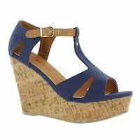 Red Circle Footwear 'Suzanne' Cork Wedge