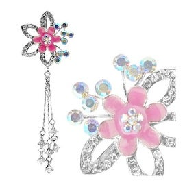 Top-Down Flower Fancy Navel Belly Button Ring (Sold Ind.)