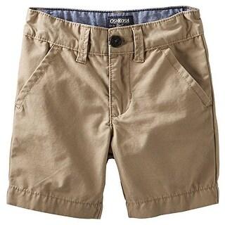 OshKosh B'gosh Big Boys' Flat Front Shorts - Khaki - 8 Kids