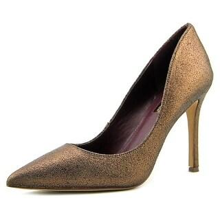 BCBGeneration Treasure Women Pointed Toe Suede Bronze Heels