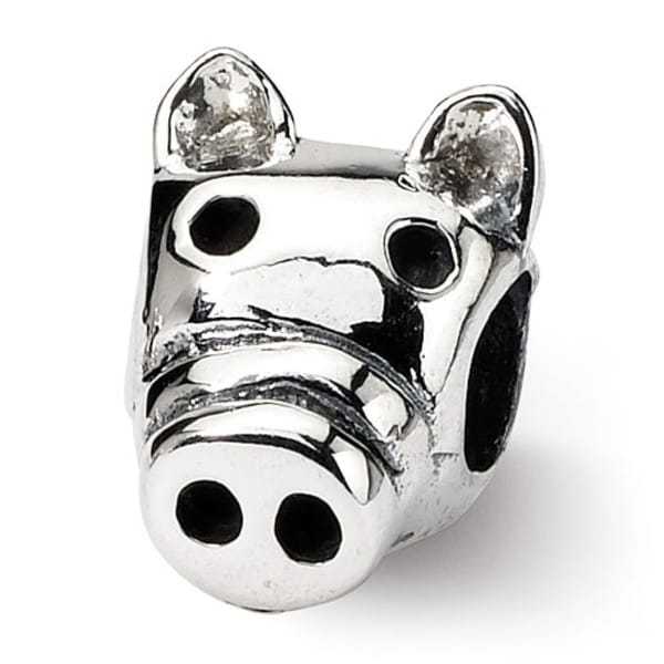 Sterling Silver Reflections Kids Pig Bead (4mm Diameter Hole)