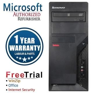 Refurbished Lenovo ThinkCentre M58P Tower Intel Core 2 Duo E8400 3.0G 4G DDR3 160G DVDRW Win 7 Pro 1 Year Warranty - Black