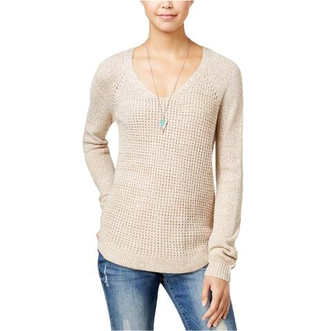 Freshman Womens Marled Pullover Sweater, Beige, Medium
