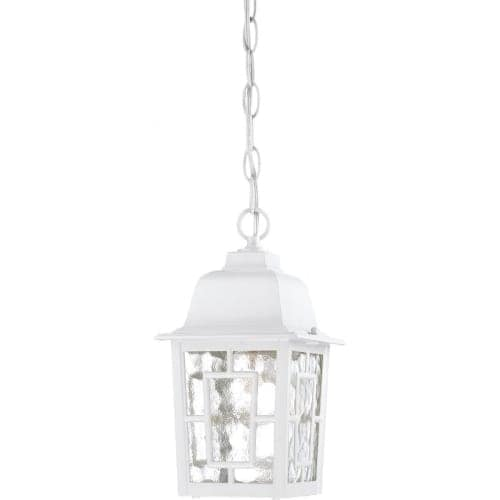Nuvo Lighting 60/4931 Banyon Single-Light Hanging Lantern with Clear Water Glass Panels