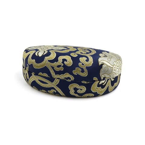 Dark Blue Silk Blend Chinese Painting Sunglasses Glasses Protector Container Box