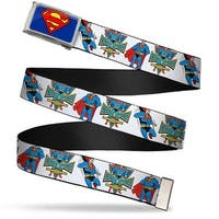Superman Fcg Blue  Chrome Superman Hero Power Poses White Webbing Web Belt