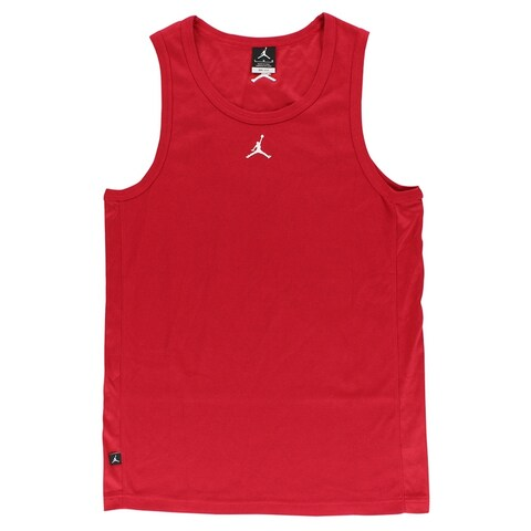 Nike Mens Buzzer Beater Tank Top Red - Red/White