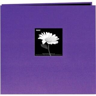 """Pioneer Book Cloth Cover Post Bound Album 12""""X12""""-Grape Purp - Grape Purple"""