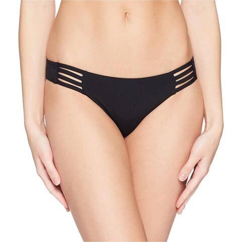 Billabong Women's Sol Searcher Tropic Bikini Bottom - Large - Black Pebble - Medium