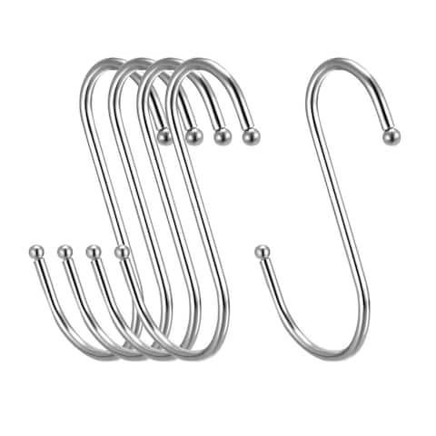 "Metal S Hooks 3.94"" S Shaped Hook Hangers for Kitchen Multiple Uses 5pcs - White - 3Pack"
