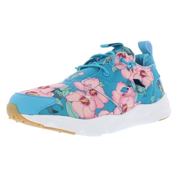 Shop Reebok Furylite Floral Print Casual Women s Shoes - 6.5 b(m) us ... ea88937e5